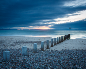 Findhorn Beach at Dusk