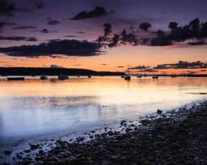 Dusk across the bay, Findhorn